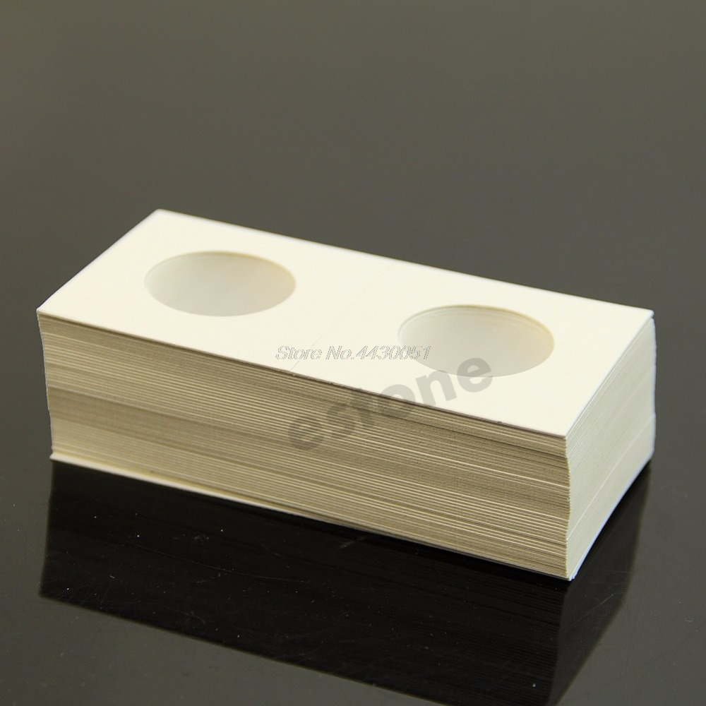 50 pcs Coin Holders 2x2 Mylar Cardboard Coin Flips Storage  40mm New