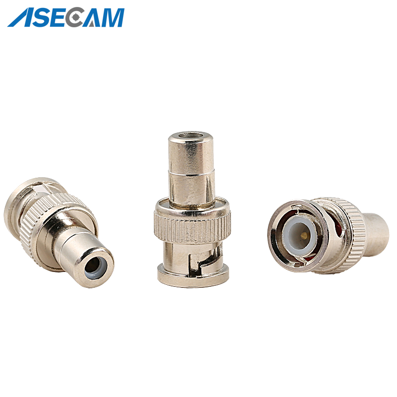 CCTV BNC Male to RCA Female Coax Cable Connector Adapter F/M Coupler for Security Camera accessories 5pcs bnc male to rca female coax cable connector adapter f m coupler for cctv camera accessories
