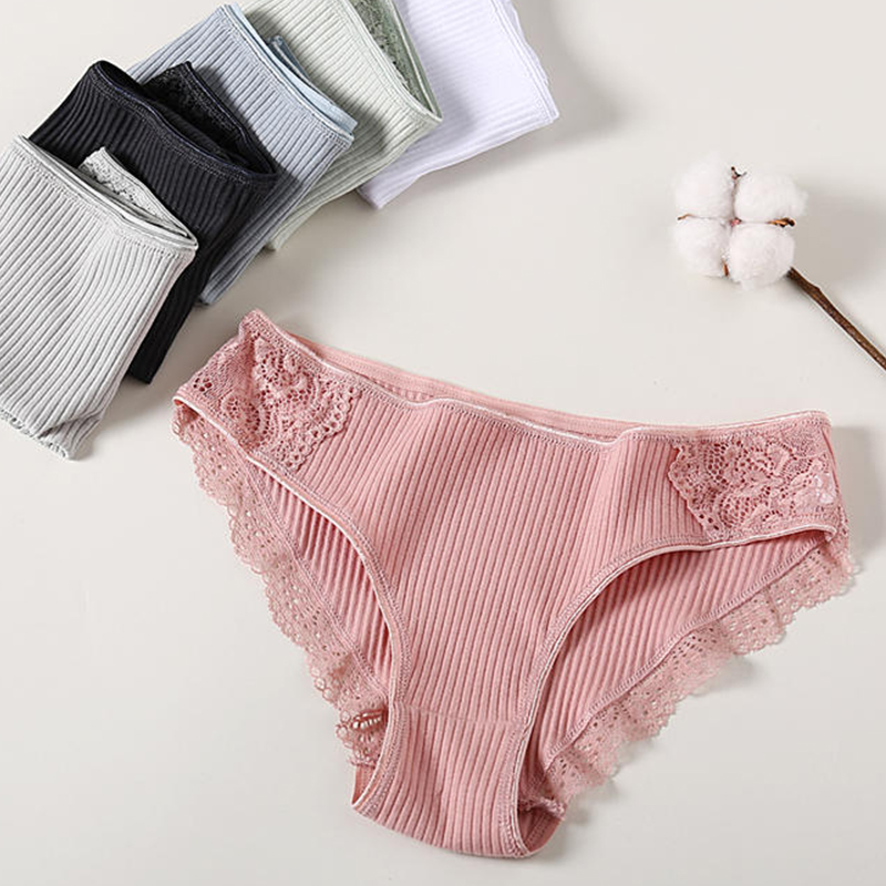 1PC Underwear Women Cotton Briefs Female Lace   Panties   Lingerie Ladies Comfortable Floral Underwear Girls   Panty   Dropshipping