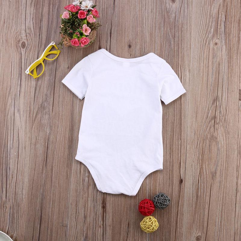 Nouveau-né enfants bébé infantile garçon fille coton body modèle d'amour maman est mon Bestie combinaison tenue vêtements été
