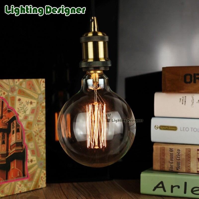 Edison Ampoule G125 Globe Rétro Filament Ampoule Antique Vintage Lampe  Ampoule Cage Du0027écureuil Filament