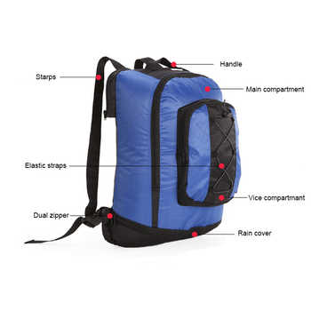 65L Bicycle Bag Mountain Bike Rack Bag 3 In 1 Multifunction Bicycle Pannier Bag Cycling Rear Seat Trunk Bag Bicycle Accessories