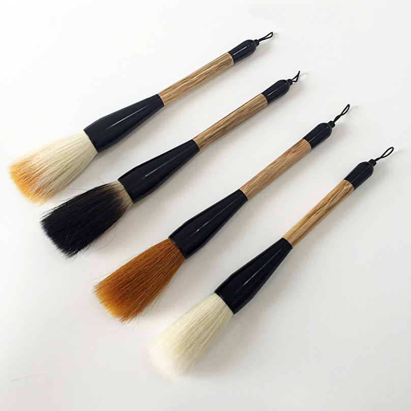 4 pcs/pack Chinese Calligraphy Brush Pen Mixed Hairs Hopper-shaped Paint Brush Art Stationary Oil Painting Brush 1pc 96grid bag pen holder paint brush holder watercolor oil acrylic painting tool pencil case stationary art easel container