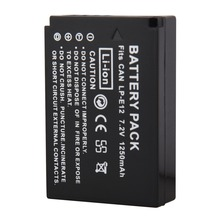 1Pcs 1250mAh LP-E12 LPE12 LP E12 Camera Batteries For Canon EOS 100D Kiss X7 Rebel SL1 EOS M10 DSLR Battery