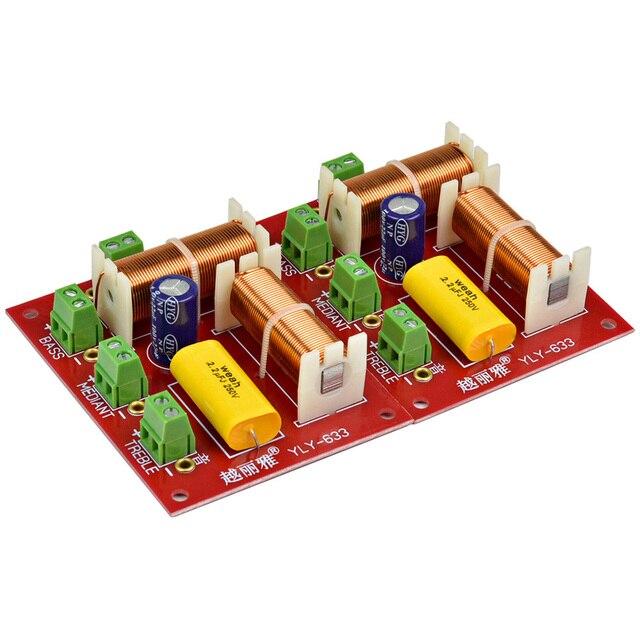AIYIMA 2 ピース 200 ワットスピーカー 3 ウェイクロスオーバーオーディオ高音 + ミッド + クロスオーバースピーカーフィルター周波数分周器 DIY ホームシステム