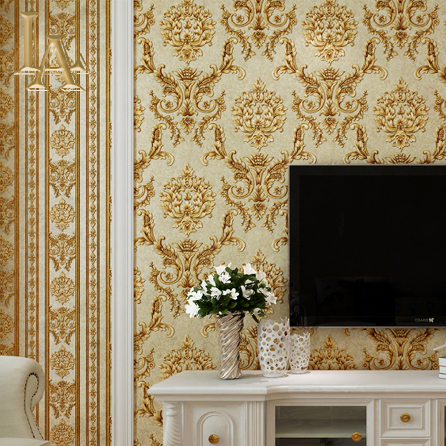 modern damask wallpaper roll classic wallcovering wallpaper for living room papel de parede 3d papel parede beibehang 0 7m 8 4m wallpaper rolls papel de parede papel parede sprinkle gold murals damask roll modern 3d mural wall paper