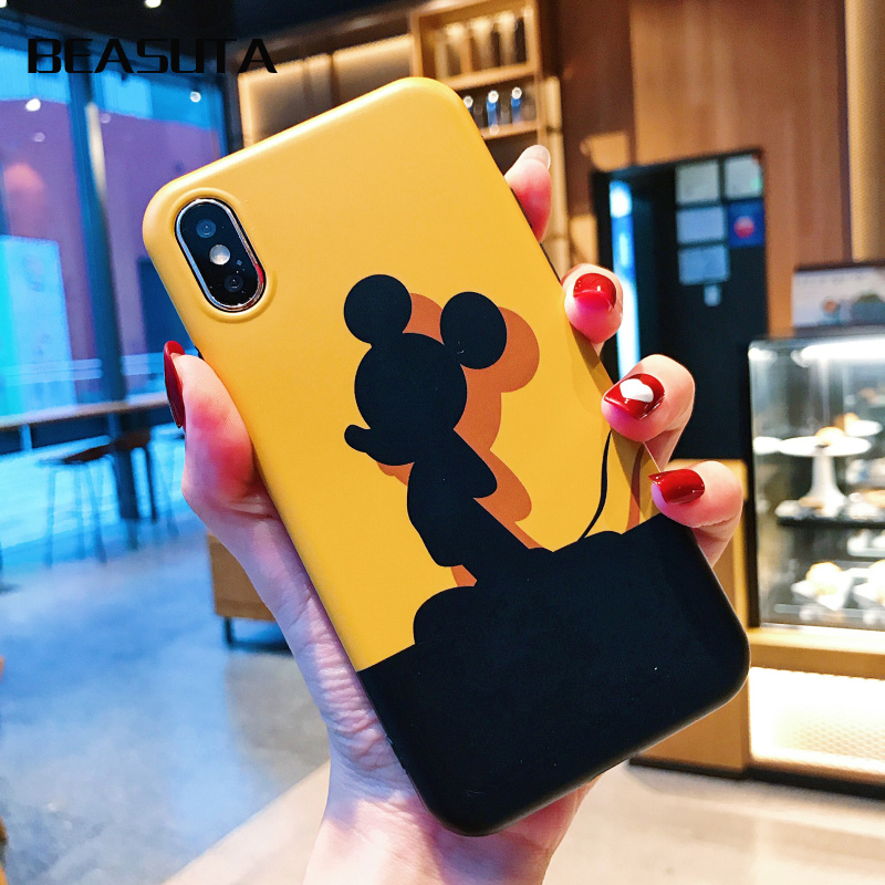 Minnie Mickey Donald Daisy Duck Weiche TPU Fall für coque <font><b>iphone</b></font> X XS MAX 7Plus <font><b>6s</b></font> 6plus silikon für <font><b>iphone</b></font> 8 gelb Abdeckung image