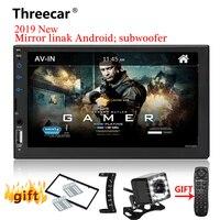 2 din Car Radio 7 HD Player Touch MP5 Auto Car audio Autoradio Mirrorlink Bluetooth USB 2din Multimedia Player Backup Monitor