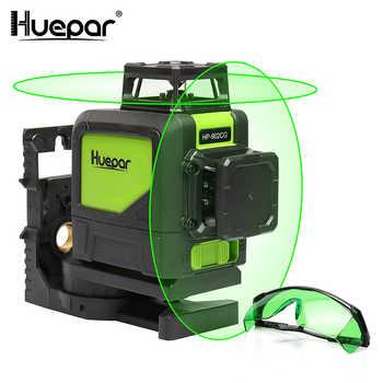 Huepar Self-leveling Professional Green Beam Cross Line Laser 360-Degree with Pulse Modes+Huepar Green Laser Enhancement Glasses - DISCOUNT ITEM  30 OFF Tools