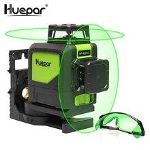 Huepar наливные Профессиональный зеленый луч Крест лазерной линии 360 градусов с импульсным режимов + Huepar зеленый лазер повышение очки