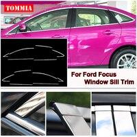 Tommia Dla Ford Focus Hatchback 2009-2017 Wysokiej Jakości Stali Nierdzewnej Chrome Okno Parapet Pasek Wykończenia Okna Molding Zgrabna
