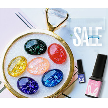1Bottle Jelly Glass Candy Gel Nail Polish With Shining Starry Summer Attribute Cute Beautifu Translucent Neon Color UV