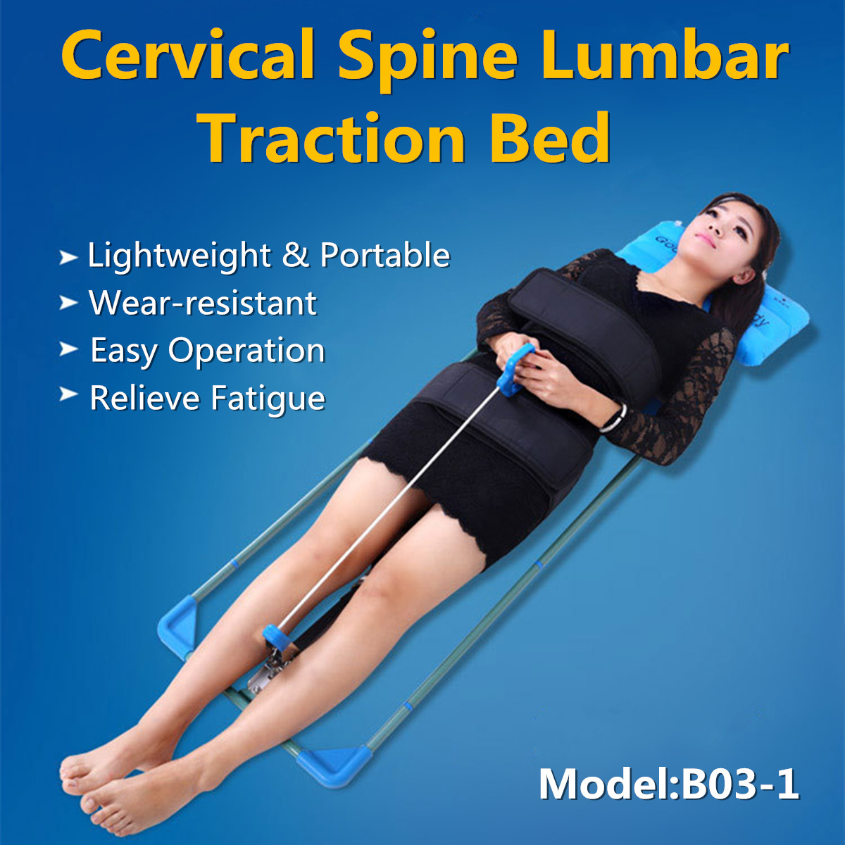 Cervical Spine Lumbar Spine Traction Bed Therapy Massage Body Stretching Device with Inflatable Pillow for Neck Lumbar Traction adult cervical traction apparatus inflatable support fixed tuohu neck with neck stretching his neck