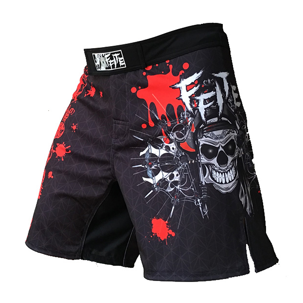FFITE Herrenhosen MMA Shorts Männer fitnes Fight Short Skull KickBoxing Muay Thai Sanda Pants Boxing mma Kofferraum Boxe Grappling