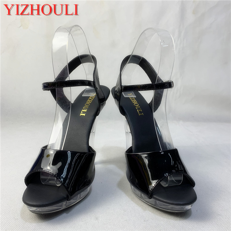 Multi-color style, beautiful transparent heels, 13 cm sexy model sandals, pole dancing shoes