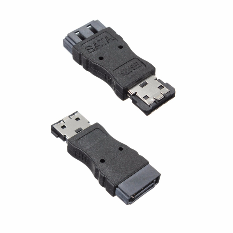 Portable SATA Female Jack to eSATA Male Plug Convert Convertor Adapter Connector For HDD Hard Drive portable sata male jack to esata female plug convert convertor adapter connector for hdd hard drive