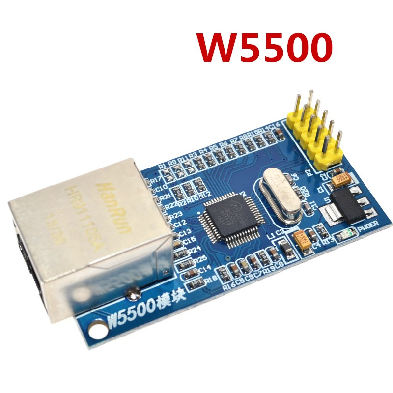 W5500 Ethernet network module hardware TCP / IP 51 / STM32 microcontroller program over W5100 Сварка