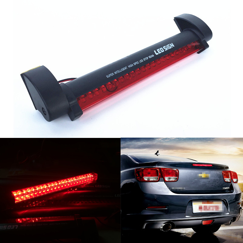 12v red led car styling third brake light bar external light source 12v red led car styling third brake light bar external light source fog stop truck tailgate high mount rear roof warning lamp in car light assembly from aloadofball Choice Image
