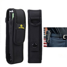 Density Nylon Molle XTAR T220 Flashlight Pouch Torch Holster Outdoor Airsoft Travel Camping Hiking Waist Attach Led Light Holder
