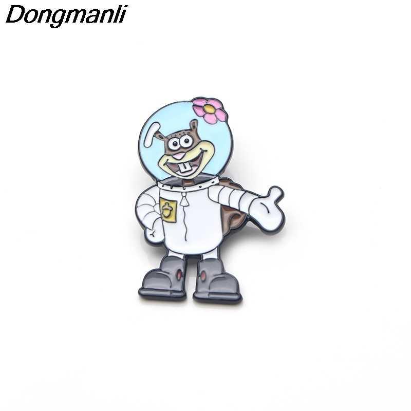 P3455 Dongmanli Anime del Metallo Dello Smalto Spille per Zaino/Borsa/Sacchetto Dei Jeans Vestiti Distintivo Risvolto Spille Spilla Gioielli Regali per bambini