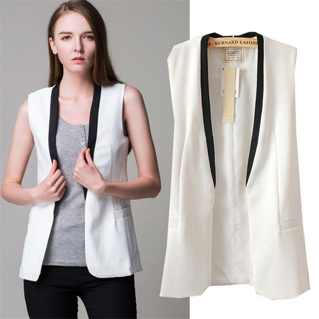 YONO New Fashion Women Vest Brand Slim Fit Sleeveless Patchwork Jacket Chaquetas Mujer Suit Vest Outwear Abrigos Veste Femme