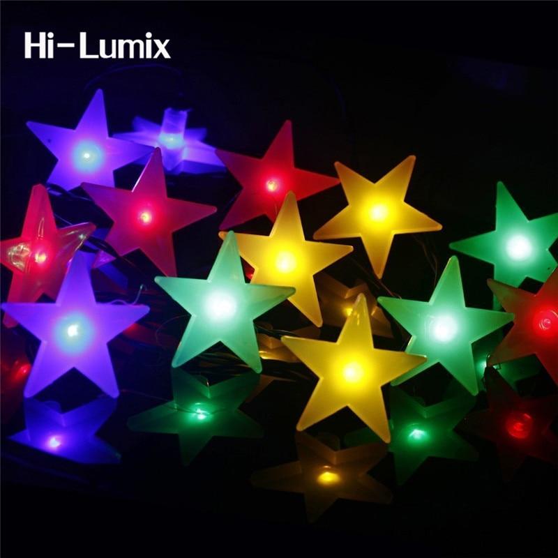 Hi-Lumix סטאר 5M 20 LED סוללה הוביל מחרוזת אור חיסכון באנרגיה דקורטיבי פיות תאורה לחג המולד, המפלגה, פאטיו, גדר