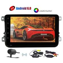"""VW Car Stereo Android 6.0 System Quad-core 1.6G Headunit 8"""" Touchscreen Double din GPS Navigation Bluetooth Autoradio with Wire"""
