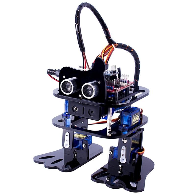 SunFounder DIY 4-DOF Robot Kit- Sloth Learning Kit Programmable Dancing Robot Kit For Ar ...