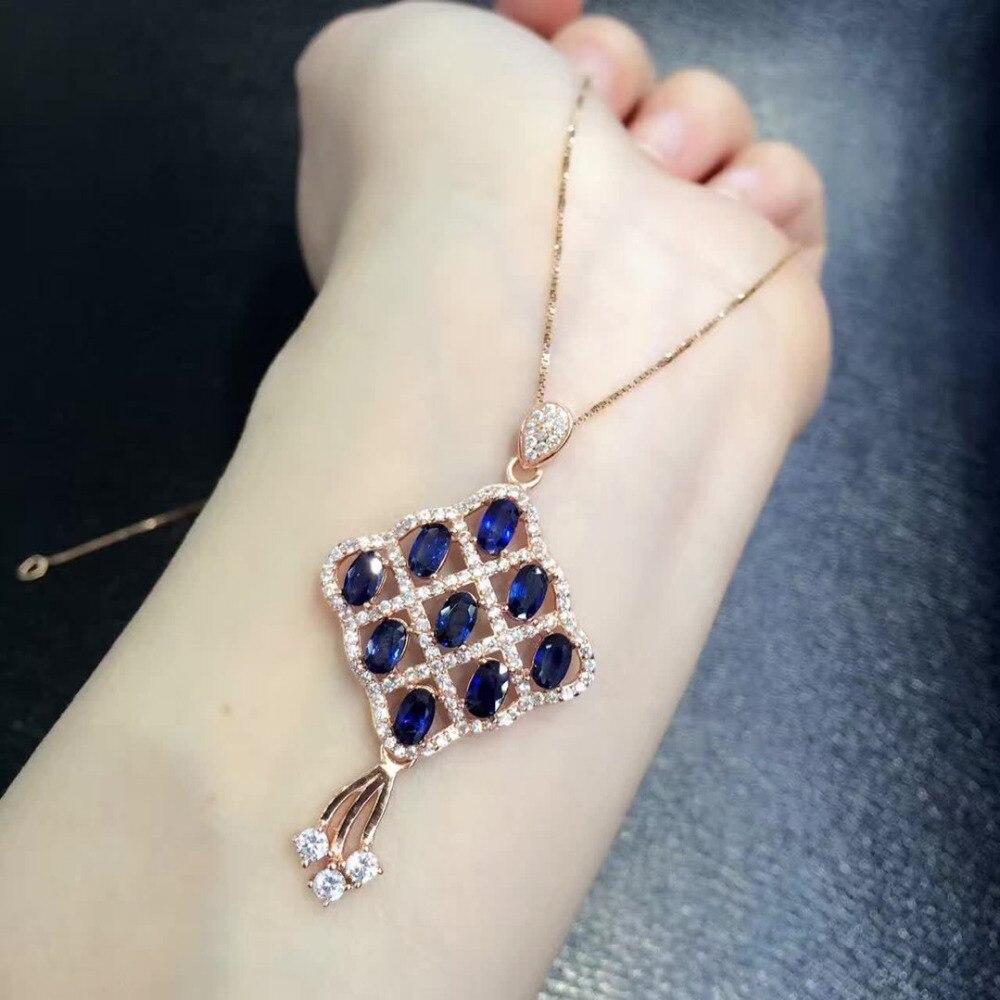 2017 Collares Qi Xuan Dark Blue Stone Модный кулон Necklace Real Necklace Quality guaranted производитель прямых продаж