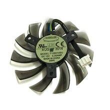 Radiador de computador t128010su 75mm 4 fio 4pin 0.35a substituição placa gráfica ventilador cooler para gtx760 770 780 670 refrigeração