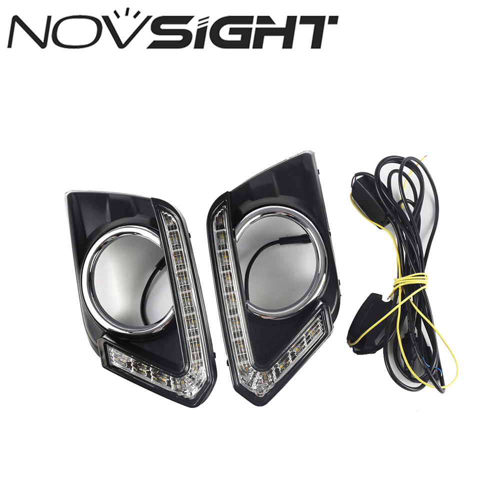 Auto Day Light LED Car DRL Driving Daytime Running Light Fog Lamp Fit For Nissan X-Trail 2014 2015 2016 D30 2x auto car styling daytime running head light drl white led driving fog lamp fit for 2014 mazda 3 axela exterior accessories