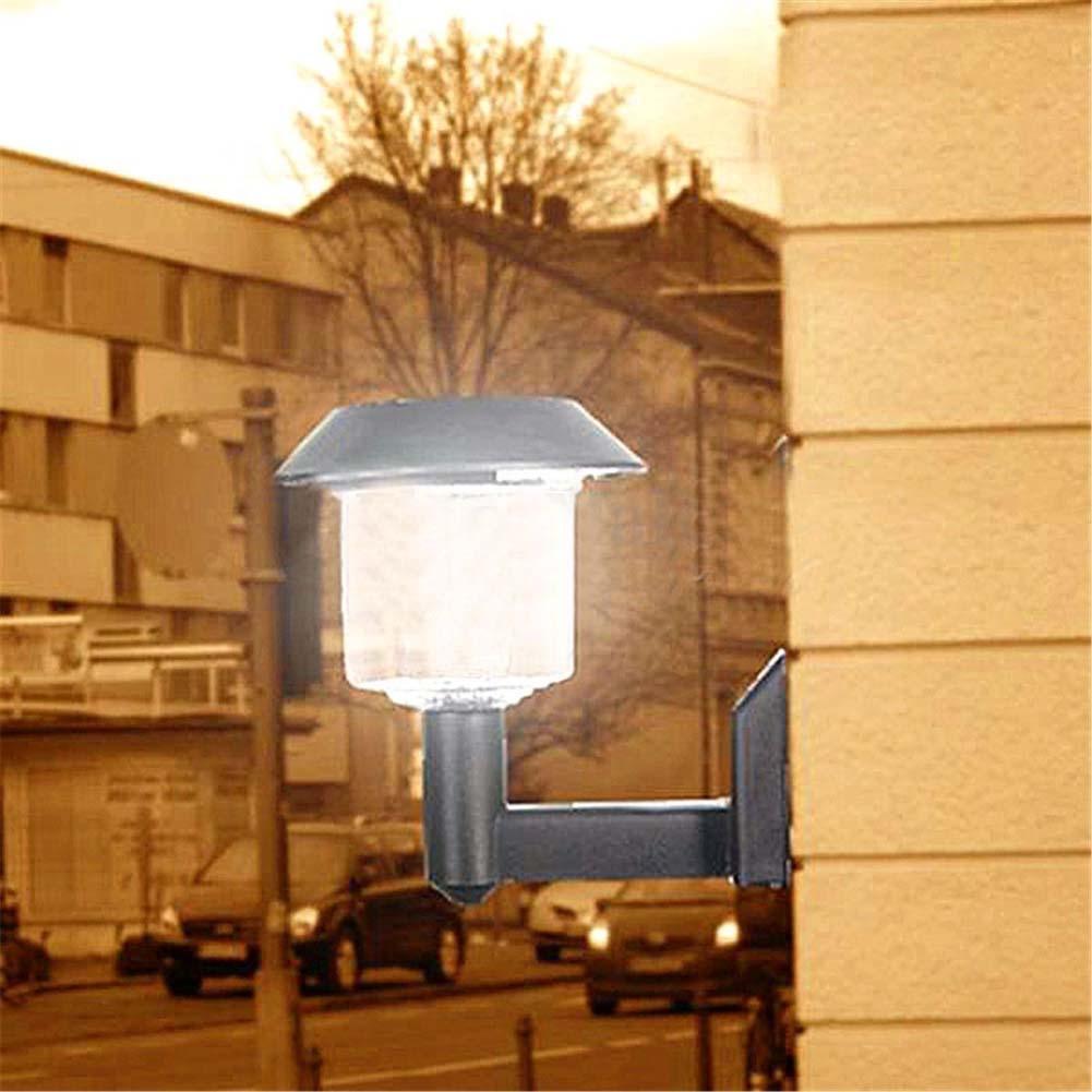 Solar Powered Wall Light Auto Sensor Fence LED Garden Yard Fence ...