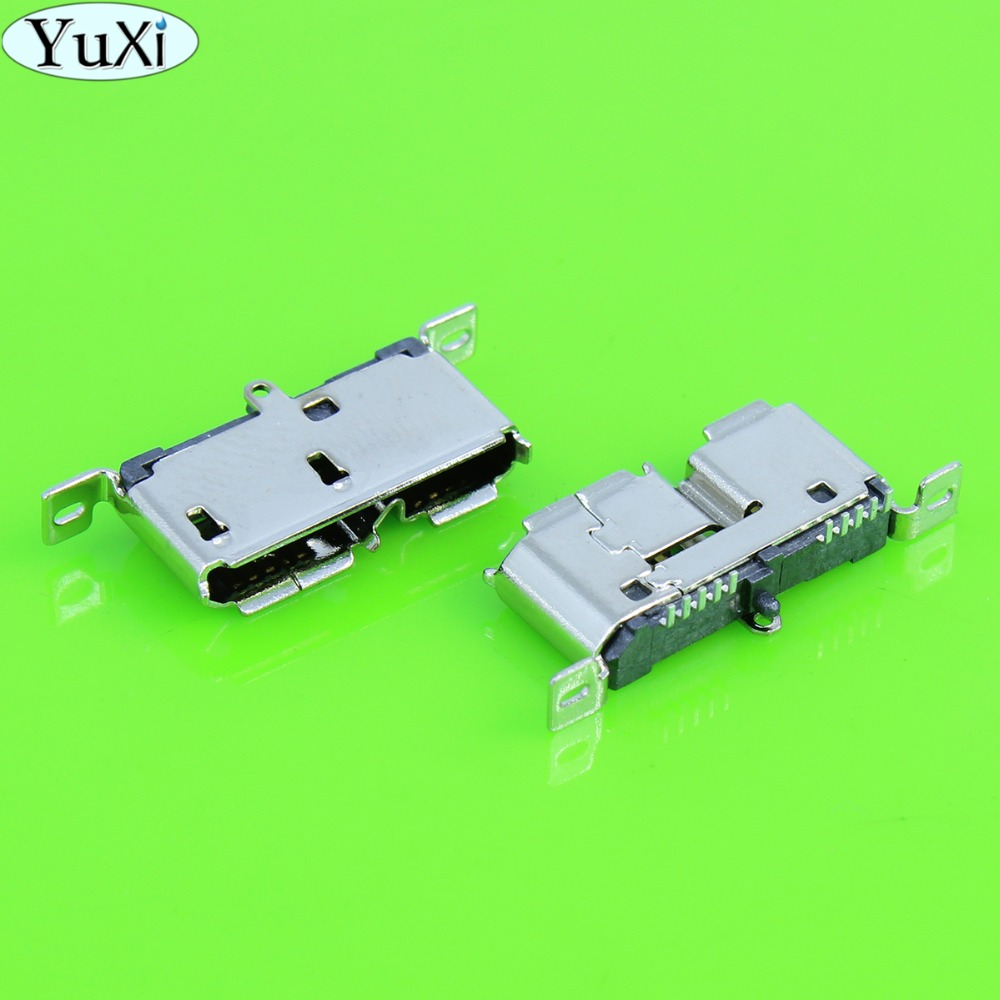 YuXi Micro USB 3.0 Socket For Mobile Hard Disk Jack HDD Interface 180 Degree 10Pin For Netbook