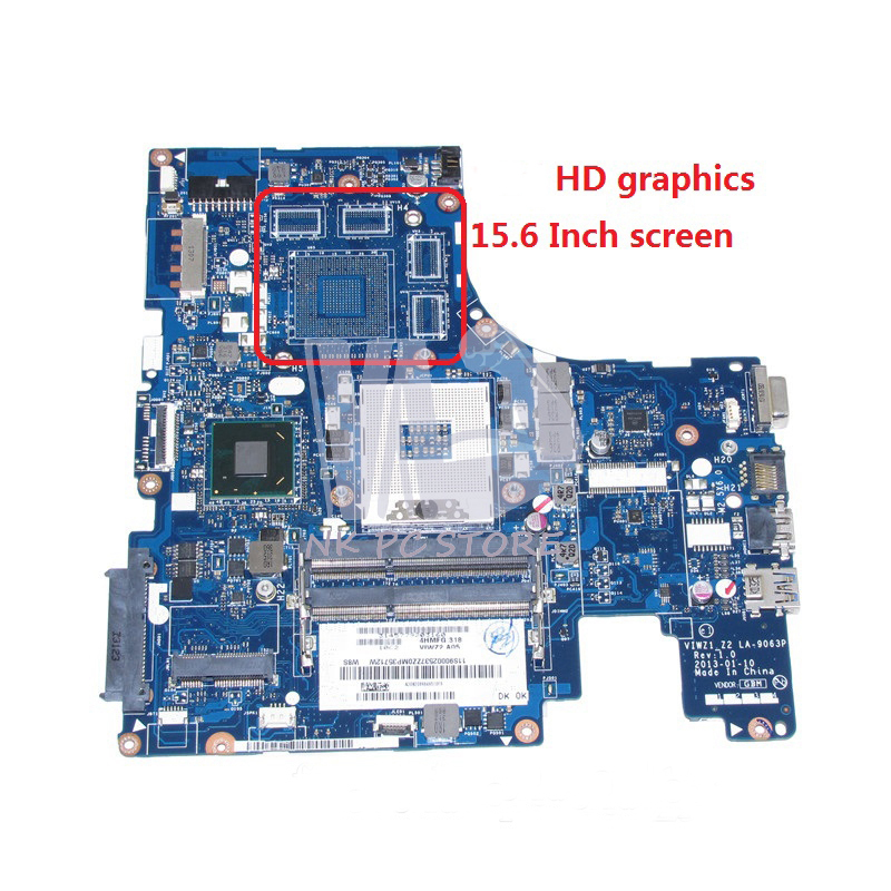 NOKOTION VIWZ1 Z2 LA-9063P Main Board For Lenovo ideapad Z500 Laptop Motherboard HD4000 HM76 DDR3 nokotion notebook pc motherboard for lenovo ideapad g500 main board system board viwgpgr la 9632p hm76 ddr3