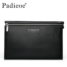 Padieoe 2016 Famous Brand Designer Handbag Casual 100 Genuine Cow Leather Men Day Clutch Bag New
