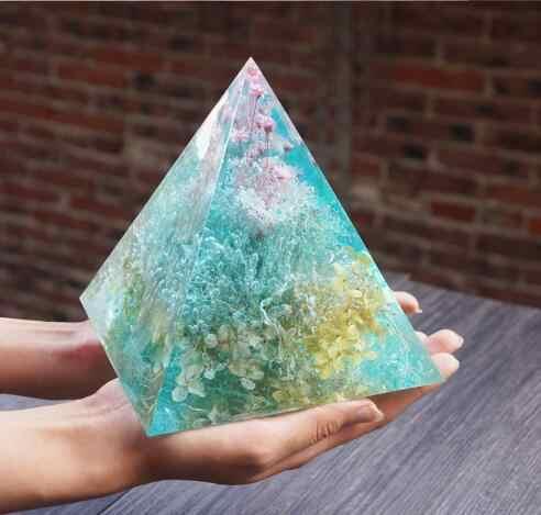 1 chiếc siêu Lớn Hình Kim Tự Tháp TỰ LÀM Khuôn Silicon Trang Sức Làm Vật Trang Trí Thủ Công Khuôn Mẫu 15 cm Trang Trí Dụng Cụ