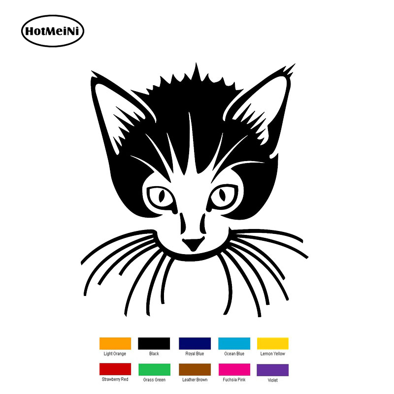 HotMeiNi 15cm x 15cm Cat Kitten Pet Animal Car Sticker For Truck Window Bumper Auto SUV Door Laptop Kayak Vinyl Black/Slive
