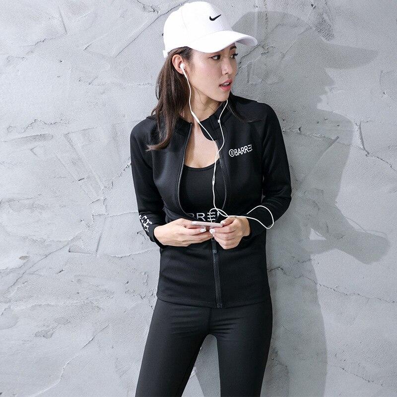 Vêtements d'entraînement Sport manteau femmes Yoga Fitness vêtements lettres Long Stretch séchage rapide course Yoga manteau