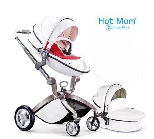 Горячая Мама коляска высокого пейзаж коляска может сидеть или лежать пневматические колеса портативный детская коляска тележка бесплатная доставка