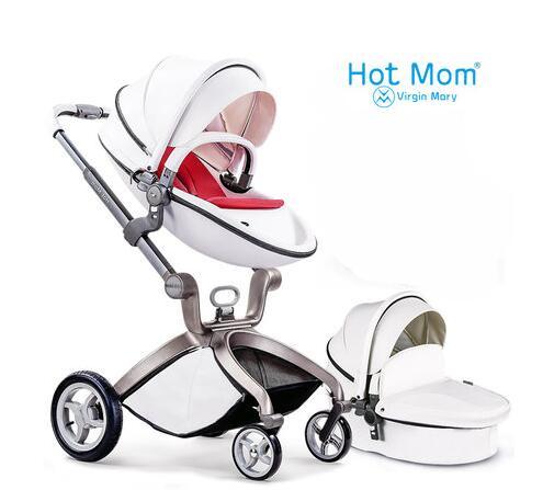 Hot Mom stroller stroller high landscape can sit or lie pneumatic wheels portable baby stroller trolley  free delivery стоимость
