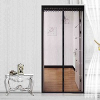 FUYA Magnetic Sheer Door Curtain Instant Screen Door Mosquito Net Magnet Closure Dual Curtain Mesh