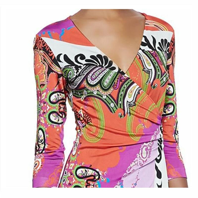 Beau Tricoter Tricoté Z Femmes Mode Printemps Spectacle Multi 313 D'impression Élastique Dres 1 De Robe Nouveau Mince À 7gp748xqw