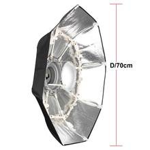 "27.5"" 70CM Foldable Portable Folding Beauty Dish Silver Color for Godox AD600B AD600BM Photograhy photo Studio Flash Strobe(China)"