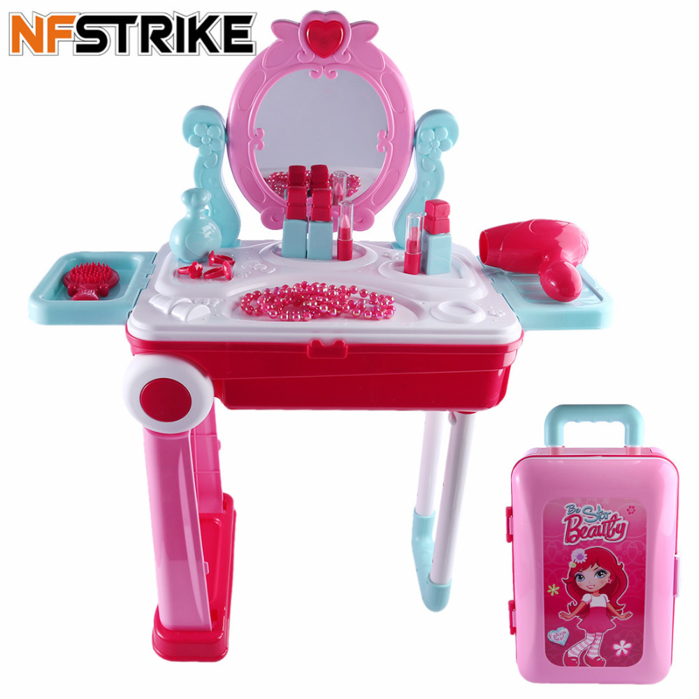 NFSTRIKE Children pretend play Beauty Makeup Tool Sets Workbench Playset Educational Toys for girls Kids Early