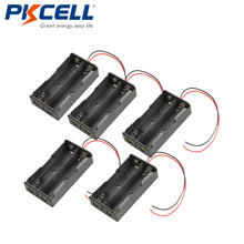 5 sztuk 18650 2 gniazdo ogniw baterii zacisk mocujący Box Case czarny nowy