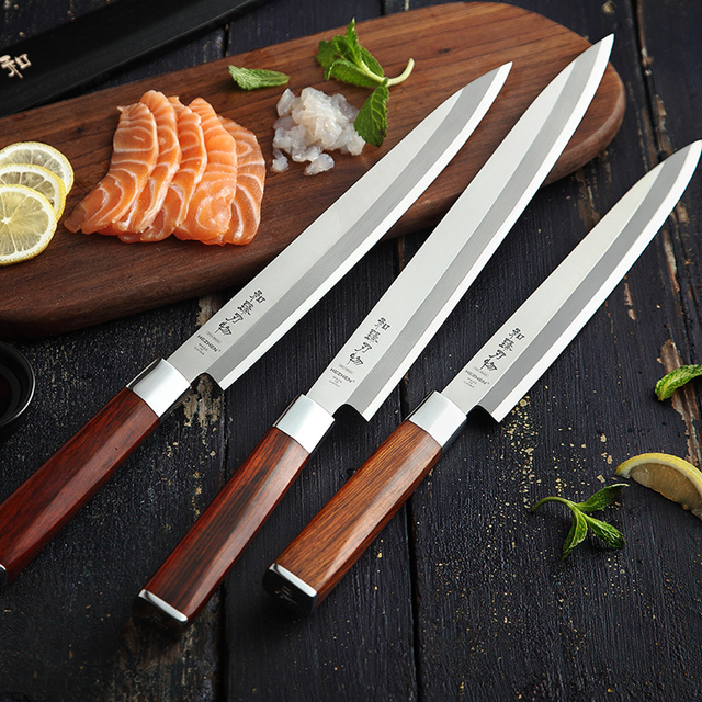 Chef Sushi Filleting Knife with Rosewood Handle