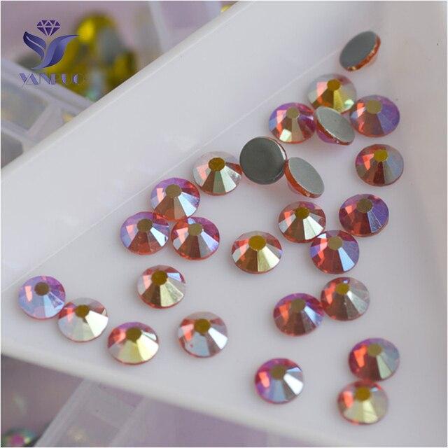 YANRUO 2058HF All Sizes Hyacinth AB Top Quality Hot Fix Strass Rhinestones  Flatback Crystal Stone For Clothes b5c0888b2769