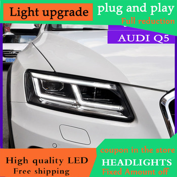 DY_L Car Styling for Audi Q5 Headlights Assembly Headlamps LED Headlight DRL Lens Headlight Daytime Running Light Lens Q5L
