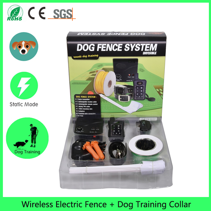 Dog Training Collar + Dog Fence Wireless, Rechargeable Transmitter And  Receiver, The Newest Containment