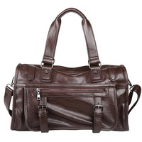 Fashion extra large weekend duffel bags big PU leather business men travel popular design Luggage handbag shoulder computer bag